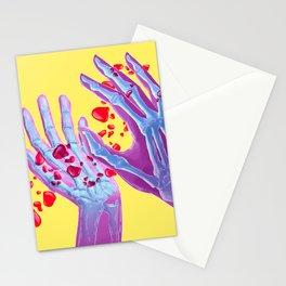 Skeleton hands Stationery Cards