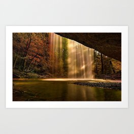 Waterfalls and Sunlight Art Print