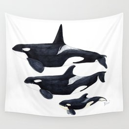 Orca (Orcinus orca) Wall Tapestry