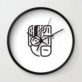 music head Wall Clock