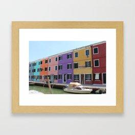 Burano Houses Framed Art Print
