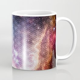 Sacred Nebula Flower Of Life Coffee Mug