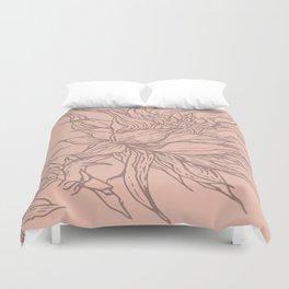 botanical linewokr Duvet Cover