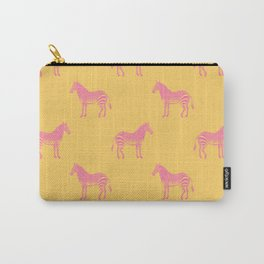 Zebra Pattern in Pink and Yellow Carry-All Pouch