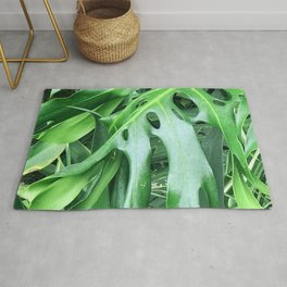 Madcap Marvelous Tropical Jungle Palm Leaves Rug