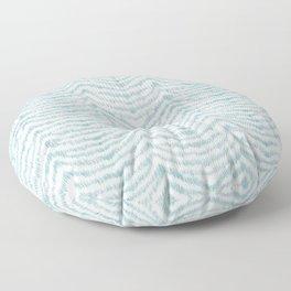 """Turquoise zebra pattern """"Sebrina"""" Floor Pillow"""