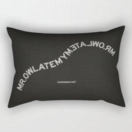 Palindrome: Mr. Owl Rectangular Pillow