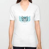 dublin V-neck T-shirts featuring MOLLYCAT - Dublin - Helsinki by Alan Hogan