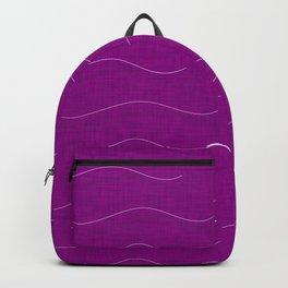 SHARK WHALE WAVES PURPLE Backpack