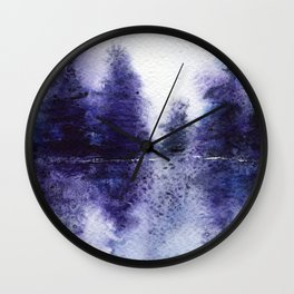 Mystery || watercolor Wall Clock