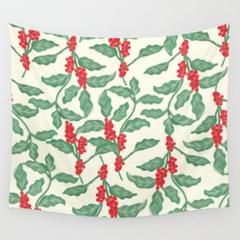 Coffee Plant Pattern Wall Tapestry