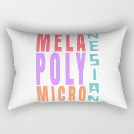 Mela Poly Micro Nesian Rectangular Pillow
