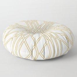 Golden stars on cream marble Floor Pillow