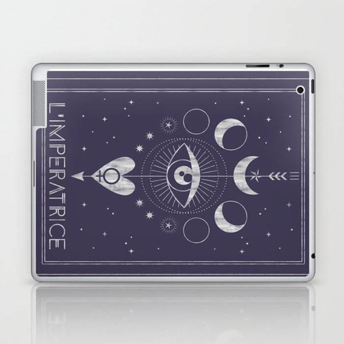 L'Imperatrice or L'Empress Tarot Laptop & iPad Skin