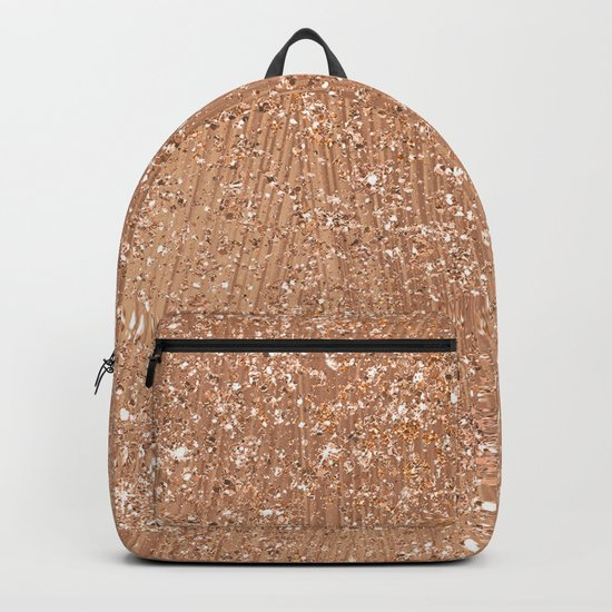 Rose gold brushstrokes and glitter Backpack
