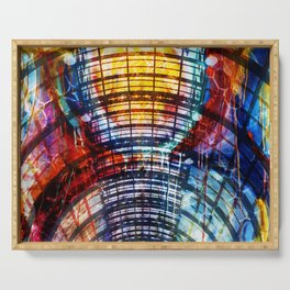 Collage Bogen color Serving Tray