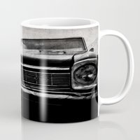 kerouac Mugs featuring Shiny Car in the Night by Bella Blue Photography