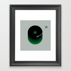 Green Vinyl Framed Art Print