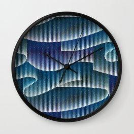Aurora Borealis_Color Sky Lights Wall Clock