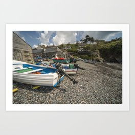 Cadgwith Fishing Boats  Art Print