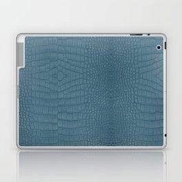 Turquoise Alligator Leather Print Laptop & iPad Skin