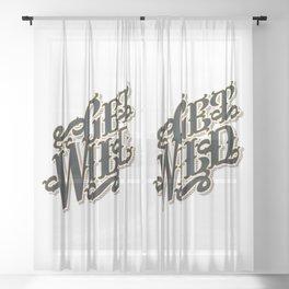 Get Wild Sheer Curtain