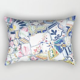Gaudi Park Guell Mosaic Rectangular Pillow