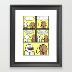 Antics #301 - smiling on the inside Framed Art Print