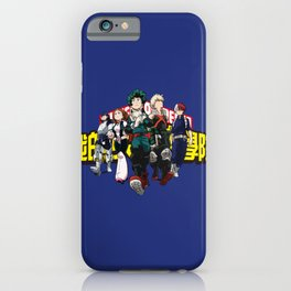 My Hero Academia Deku, Bakugou, Uraraka, Todoroki, Iida iPhone Case