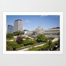 Brussels botanical garden Art Print