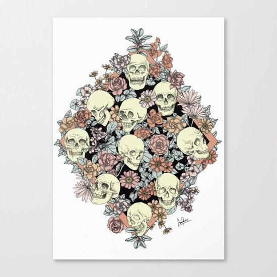 Blooming Skulls Canvas Print