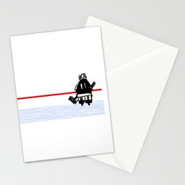 The Goalie - after a hockey game Stationery Cards