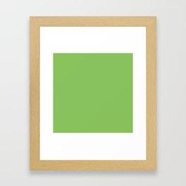 Solid Pale Green Peas Color Framed Art Print
