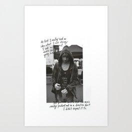 Alex Gaskarth - All Time Low Art Print