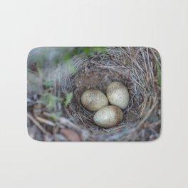 Horned lark nest and eggs - Yellowstone National Park Bath Mat