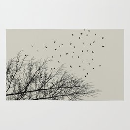 Come On Home - Graphic Birds Series, Plain - Modern Home Decor Rug