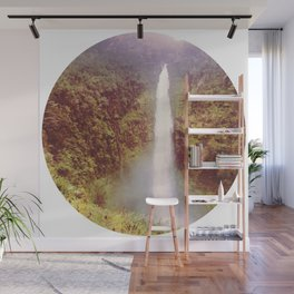 Round Waterfall Wall Mural