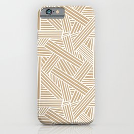 Sketchy Abstract (White & Tan Pattern) iPhone Case
