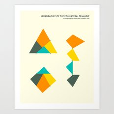 QUADRATURE OF THE TRIANGLE Art Print