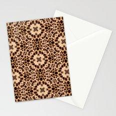 Leopard Kaleidoscope Wild Animal Print Stationery Cards