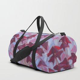 Oxalis, Blue & Burgundy version Duffle Bag