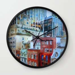 The view from the windows of the MoMA Wall Clock