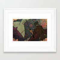moby dick Framed Art Prints featuring Moby Dick by Kindra Haugen