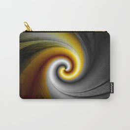 Black Gold Spiral Abstract Carry-All Pouch