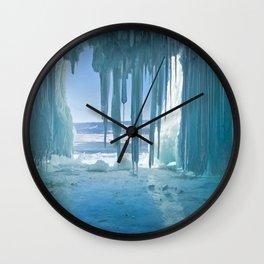 Russia Lake Winter Baikal Ice Nature Wall Clock
