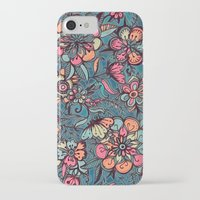 spring iPhone & iPod Cases featuring Sweet Spring Floral - melon pink, butterscotch & teal by micklyn