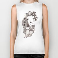 burlesque Biker Tanks featuring Chubby Burlesque by Sabrina Eras