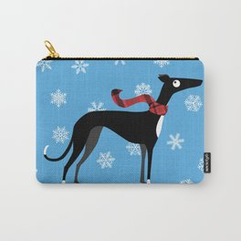 Snowy Hound Carry-All Pouch