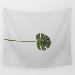 Single monstera tropical leave Wall Tapestry
