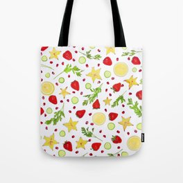 Fruits and vegetables pattern (6) Tote Bag